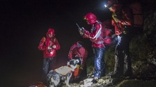 Mountain rescuers searched for the missing fell-runner in extreme weather conditions until 2am the following morning
