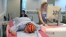 Kathryn Oatey uses the new breast scanner