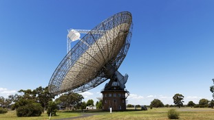 The powerful multibeam receiver is fitted to the Parkes radio telescope in New South Wales, Australia.
