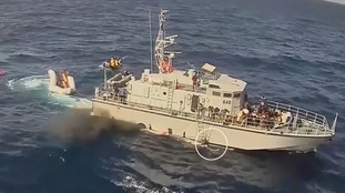 The Libyan coast guard, aboard the Italian-provided Ras Jadir vessel, was first on the scene.