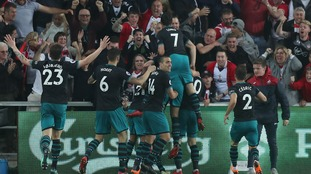 Southampton beat Swansea in Wales and relegate West Brom