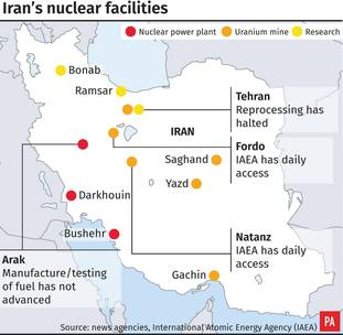 An overview of Iran's nuclear facilities.