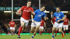 George North in action against Italy