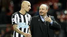 Rafael Benitez and Jonjo Shelvey