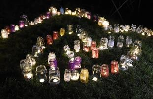 Candles have been left by members of the public in memory of Summer.