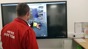 Casualties instantly assessed using video streaming technology