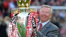 Alex Ferguson with trophy
