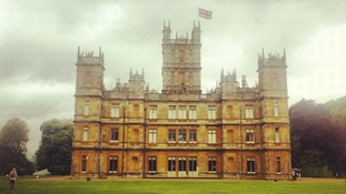 Highclere Castle in Newbury where the television show Downton Abbey is filmed