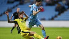 Harry Pell (in yellow) has joined Colchester United.