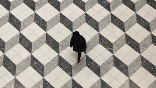 Artistic floor in Tokyo, Japan