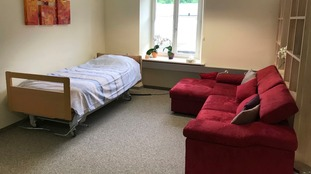 A room at an assisted suicide clinic in Basel, Switzerland, where many people choose to end their own life.