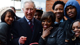 The Prince stopped off at Surrey County Cricket Club at the Oval, Kennington