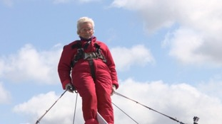 Daredevil 91-year-old thought to be UK's oldest wing walker