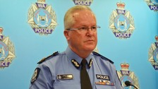 Police Commissioner Chris Dawson said officers were dealing with a 'horrific incident'.
