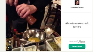 Twitter CEO Dick Costolo posted a 'Steak tartare in six seconds' video using Vine