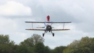 The 91 y.o is thought to be the oldest female wing walker