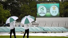 Heavy rain put paid to Ireland's first day of their five-day Test against Pakistan in Malahide