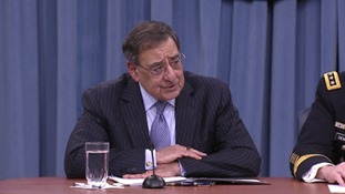 US Secretary of Defence Leon Panetta speaking today