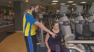 Jo Cross attends the gym three times a week in the hope her mobility will one day improve.