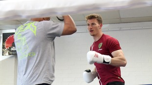Christoph Zimmermann took part in some sparring.