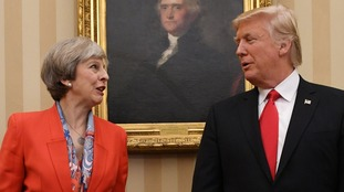 Donald Trump and Theresa May discuss Iran nuclear deal and North Korea on phone