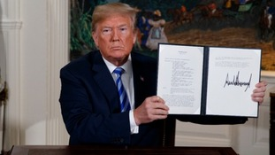 President Donald Trump has pulled America out of the Iran nuclear agreement, describing it as a 'horrible, one-sided deal'.