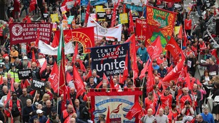 Thousands of people took to the streets of London on Saturday.