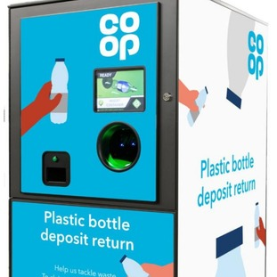 he drinks bottle reverse vending machines will give people vouchers to spend at pop-up Co-op stores on site.