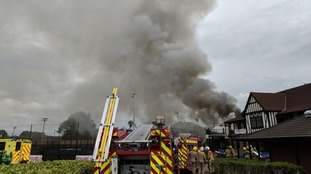 50 firefighters tackle large blaze at Bristol sports centre