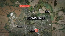 A motorcyclist has died following a collision in Braintree.