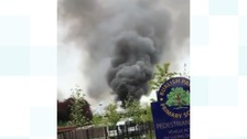 A large fire has broken out at a derelict school building in Worcestershire.