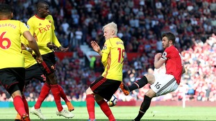 Michael Carrick signed off his Man United playing career with a win as his side sunk Watford at home