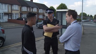 One week on from a fatal stabbing in Luton officers have returned to the scene