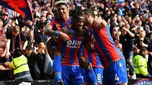 Goals from Wilfried Zaha and Patrick van Aanholt see Crystal Palace finish with a flourish