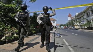 Indonesian family of five carry out explosives attack - a day after another family's suicide bombings