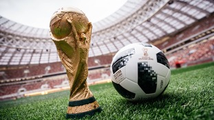 World Cup trophy and ball