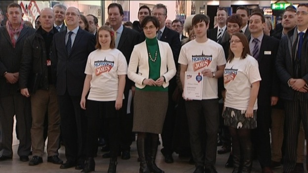 Norwich MP Chloe Smith is trying to tackle youth unemployment