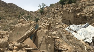 The destruction in this area is evident, with tunnels and hideouts destroyed.