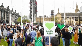 Grenfell rally takes place in Parliament Square