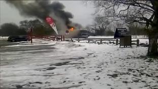 Children hurt after school bus trip fire