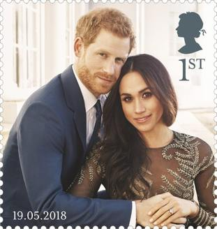 One of the Royal Mail stamps celebrating the royal wedding