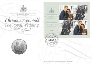 The royal wedding stamps and coin souvenir pack.