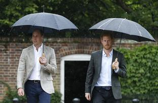 The Duke of Cambridge and Prince Harry took part in radio message