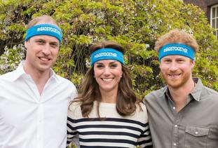 The Duke and Duchess of Cambridge and Price Harry