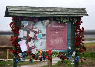 A memorial board near Shoreham Airport.