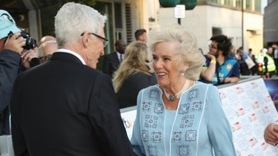 The Duchess of Cornwall greeted by Paul O'Grady