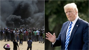 The protests were the result of President Trump's announcement that the US would move it's embassy in Israel to Jerusalem.