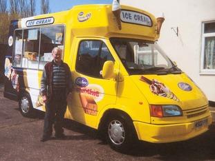 Mac with his beloved ice cream van