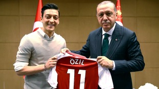 Mesut Ozil and Ilkay Gundogan criticised for posing in photographs with Turkish President Recep Tayyip Erdogan