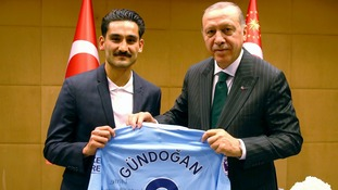 Ilkay Gundogan has said 'it was not our intention to make a political statement with this picture.'